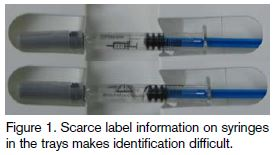 syringes with no labels