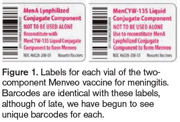 Menveo vaccine labels