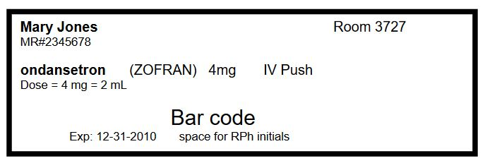 Principles of Designing a Medication Label for Injectable Syringes
