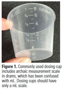 medication dosing cup