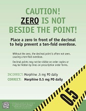 caution zero is not beside point