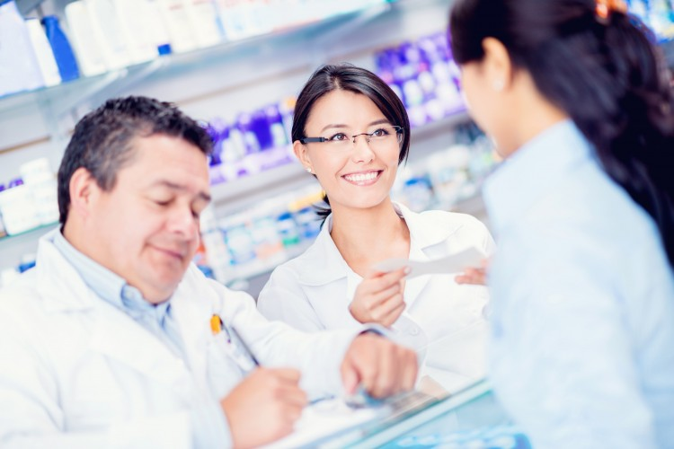 pharmacist and patient