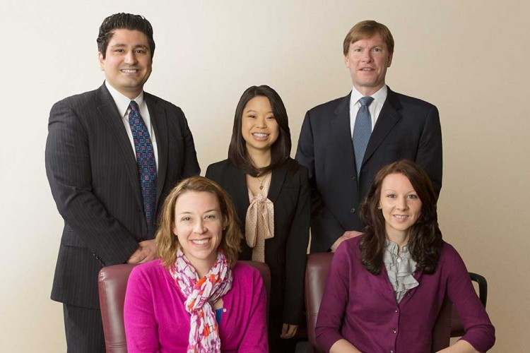 Group of five ISMP fellows